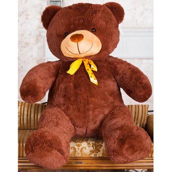 Большой плюшевый медведь Барт 100 см (бурый)
