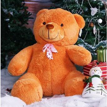 Большой плюшевый медведь Барт 100 см (карамельный)