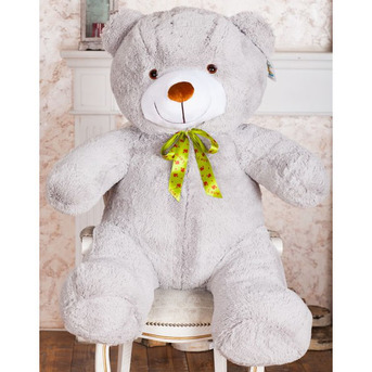 Большой плюшевый медведь Барт 100 см (серый)