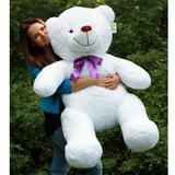 Большой плюшевый медведь Барт 140 см (белый)