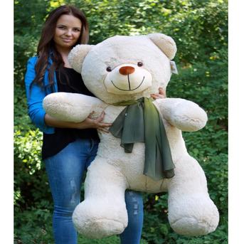 Большой плюшевый медведь Барт 140 см (бежевый)