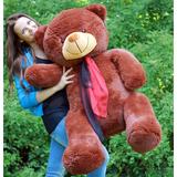 Большой плюшевый медведь Барт 140 см (бурый)