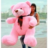 Большой плюшевый медведь Барт 170 см (розовый)