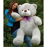 Большой плюшевый медведь Барт 140 см (серый)