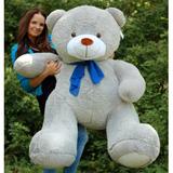 Большой плюшевый медведь Барт 170 см (серый)