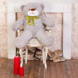 Большой плюшевый медведь Феликс 120 см (серый)