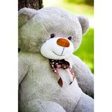 Большой плюшевый медведь Феликс 200 см (серый)