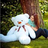 Большой плюшевый медведь Феликс 160 см (белый)