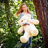 Большой плюшевый медведь Феликс 120 см (бежевый)