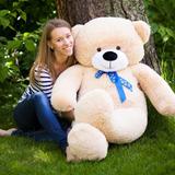 Большой плюшевый медведь Феликс 160 см (бежевый)