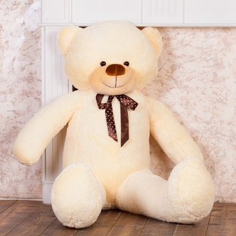 Большой плюшевый медведь Феликс 160 см (чайная роза)
