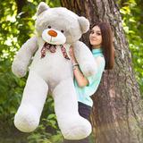 Большой плюшевый медведь Феликс 160 см (серый)