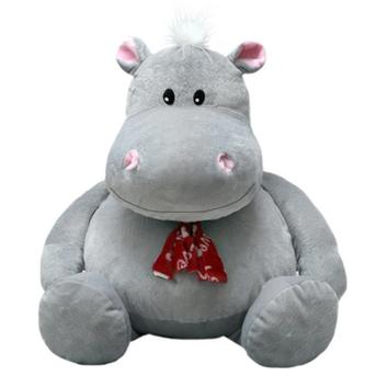Мягкая игрушка бегемот Глория 80 см