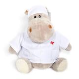 Мягкая игрушка бегемот Любимый доктор 27 см