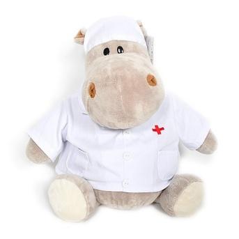 Мягкая игрушка бегемот Любимый доктор 70 см