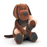 Мягкая игрушка пес Барбоська с косточкой 20 см