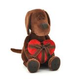 Мягкая игрушка пес Барбоська с сердцем 30 см