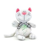 Мягкая игрушка кот Батон белый 15 см