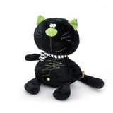 Мягкая игрушка кот Батон черный 20 см