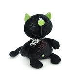 Мягкая игрушка кот Батон черный 15 см