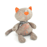 Мягкая игрушка кот Батон серый 40 см
