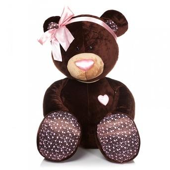 Мягкая игрушка Медведь Девочка MILK сидячая 50 см