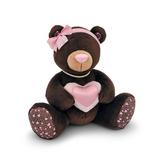 Мягкая игрушка Медведь Девочка MILK с сердцем 15 см