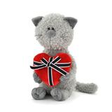 Мягкая игрушка кот Обормот с сердцем 30 см
