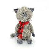 Мягкая игрушка кот Обормот в шарфике 45 см