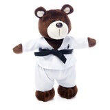 Мягкая игрушка медведь Каратист 20 см