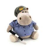 Мягкая игрушка бегемот Полицейский 27 см