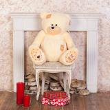 Большой плюшевый медведь Тедди 80 см (чайная роза)