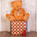 Большой плюшевый медведь Тедди 80 см (карамельный)