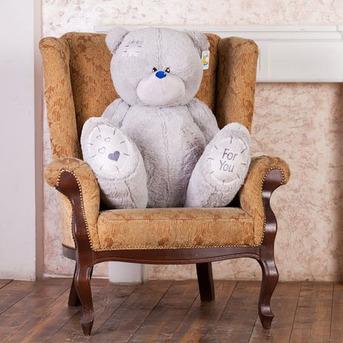 Большой плюшевый медведь Тедди 100 см (серый)