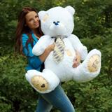 Большой плюшевый медведь Тедди 130 см (белый)