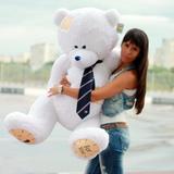 Большой плюшевый медведь Тедди 150 см (белый)