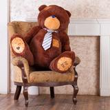 Большой плюшевый медведь Тедди 150 см (бурый)