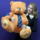 Большой плюшевый медведь Тедди 130 см (карамельный)