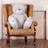 Большой плюшевый медведь Тедди 130 см (серый)