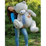 Большой плюшевый медведь Тедди 150 см (серый)