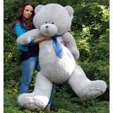 Большой плюшевый медведь Тедди 190 см (серый)