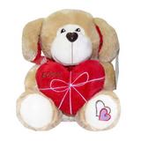 Мягкая игрушка собачка с сердцем Вольт 25 см